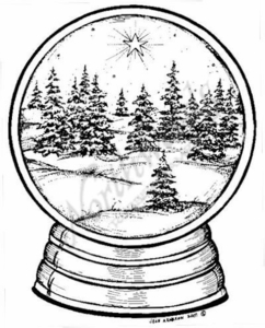 P6297 Snowy Tree Snow Globe