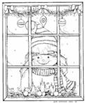 P6352 Peeking Snowman In Window