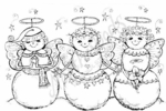 P6362 Trio Of Angels Snowmen