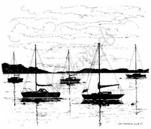 P6570 Sailboat Silhouette