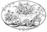 P6624 Oval Watering Can With Flowers