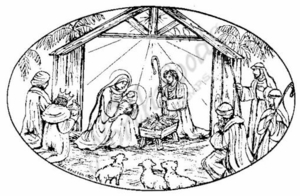 P6796 Nativity Oval