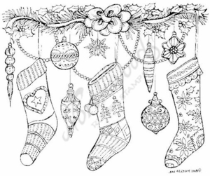 P6809 Hanging Stockings and Ornaments
