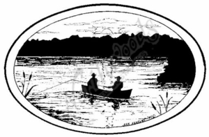 P6858 Fishing Silhouette Oval