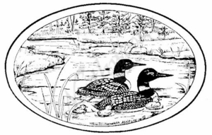 P6867 Loon Family Oval