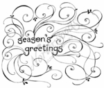 P7164 Swirly Season's Greetings