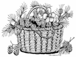 P7166 White Pine Basket