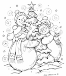 P7190 Snowmen Hugging Tree