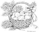 P7254 Easter Basket With Hydrangea