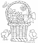 P7266 Stained Glass Easter Basket With Chicks