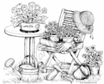 P7340 Spring Garden Chair and Table