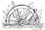 P7380 Pheasant and Wagon Wheel