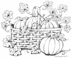 P7598 Pumpkin Basket With Leaves
