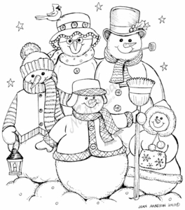 P7751 Snowman Family Of Five