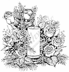 P814 Rose Candle
