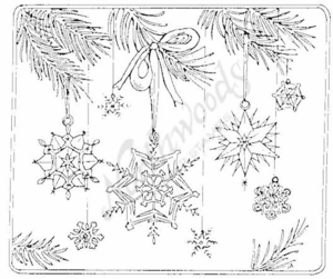P826 Snowflake Ornaments