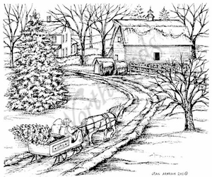 P8331 Sleigh And Winter Farm