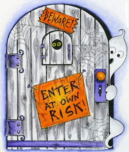 P8628 Enter At Your Own Risk Door