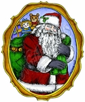 P8752 Old St. Nick In Vintage Frame