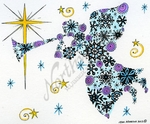 P8762 Snowflake Angel With Stars
