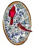 P8885 Cardinal Pair On Junipers Oval