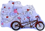 P8930 Heart Bicycle Built For Two