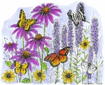 P8966 Field Of Butterflies And Flowers