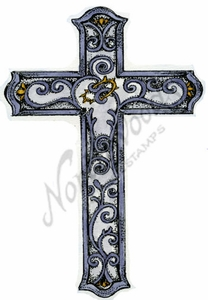 P9019 Scrolled Cross