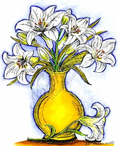 P9021 Easter Lily Vase