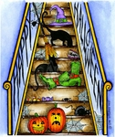 P9145 Happy Halloween Stairs