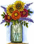 P9203 Mason Jar Bouquet