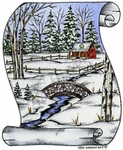 P9356 Scroll Winter Scene