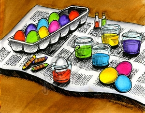 P9712 Dyeing Easter Eggs