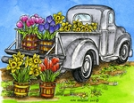 P9762 Spring Floral Truck