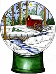 P9913 William's Old Mill Snow Globe