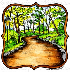 PP10030 Road In Curved Frame