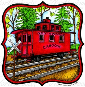 PP10037 Caboose In Curved Frame