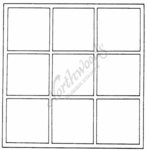 PP1193 Square Empty Grid