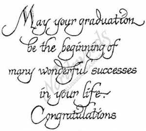 PP2314 Calligraphy May Your Graduation