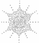 PP2982 Open Snowflake With Dots