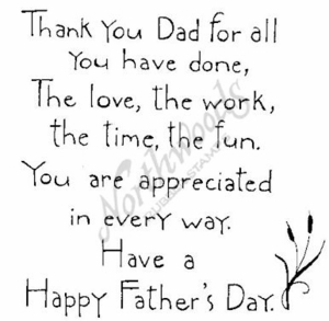 PP3413 Simple Thank You Dad