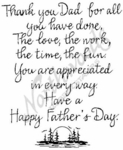 PP3416 Calligraphy Thank You Dad