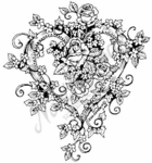 PP4539 Ivy and Rose Heart