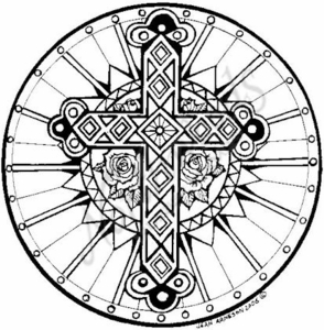 PP4572 Circle Cross With Roses