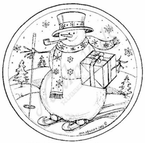 PP4872 Circle Skiing Snowman