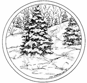 PP6304 Circle Snowy Spruce