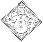PP6356 Diamond Snowman and Candle