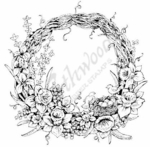 PP6636 Grapevine Wreath With Birds Nest