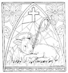 PP6982 Stained Glass Lamb