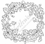 PP7052 Stained Glass Fall Wreath